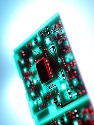 Circuit Board Poster by Tek Image