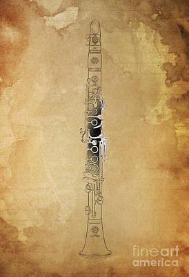 Clarinet 21 Jazz B Poster by Pablo Franchi