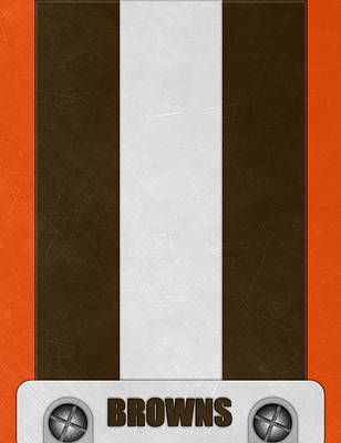 Cleveland Browns Helmet Art Poster