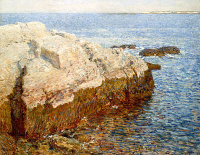 Cliff Rock - Appledore Poster by Childe Hassam