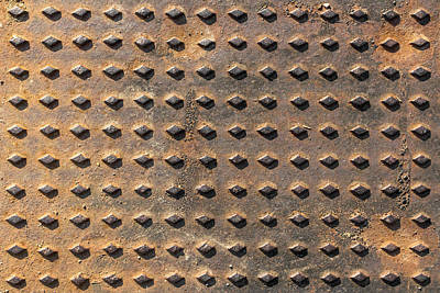 Close-up Background Manhole  Poster by Germano Poli
