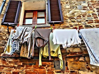 Clothesline Poster by Judy Bernier