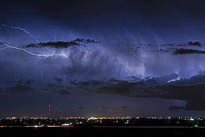 Cloud To Cloud Lightning Boulder County Colorado Poster by James BO  Insogna