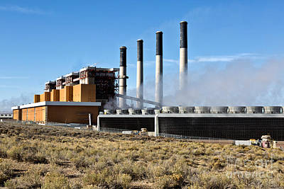 Coal Fired Power Plant Poster by Inga Spence
