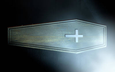 Coffin And Crucifix Poster by Allan Swart