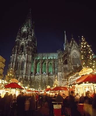 Cologne Cathedral And Christmas Market Poster
