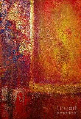 Color Fields Red And Gold Poster by Philip Bowman
