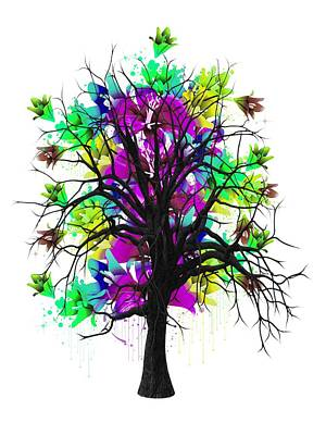 Color Tree Collection Poster by Marvin Blaine