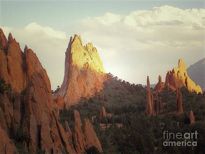 Poster featuring the photograph Colorado Garden Of The Gods Landscape by Andrea Hazel Ihlefeld