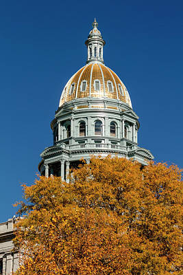 Colorado State Capitol Building Poster by Teri Virbickis