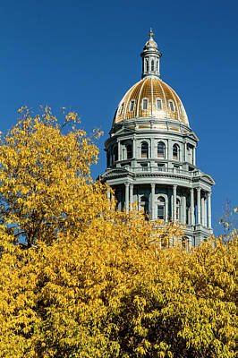 Colorado State Capitol In Denver Co Poster by Teri Virbickis