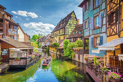 Colorful Colmar Poster by JR Photography