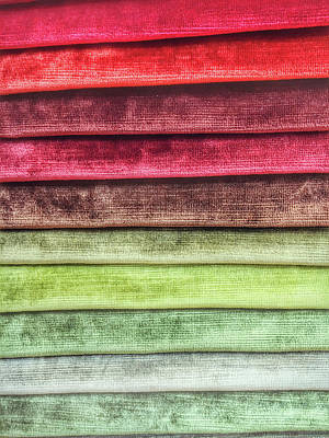 Colorful Textiles Background Poster