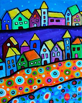 Colorful Town Poster by Pristine Cartera Turkus