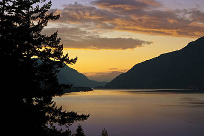 Columbia River Sunset Poster