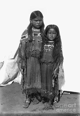 Comanche Girls, 1892 Poster