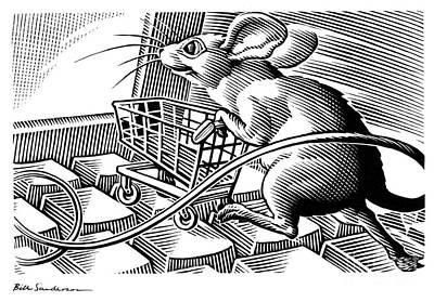 Computer Shopping, Conceptual Artwork Poster