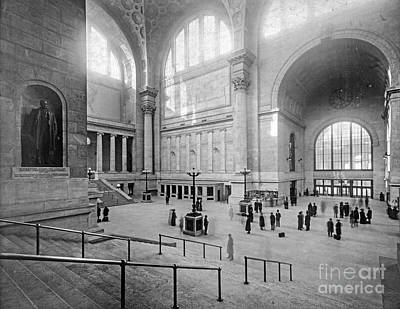 Concourse Pennsylvania Station New York Poster by Russ Brown