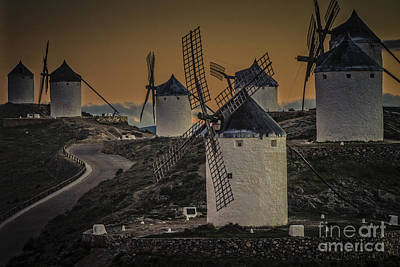 Poster featuring the photograph Consuegra Windmills 2 by Heiko Koehrer-Wagner