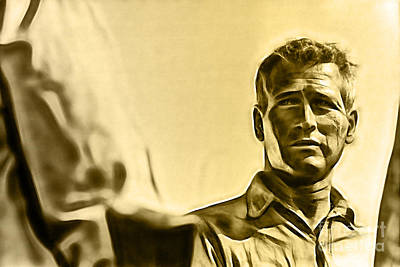 Cool Hand Luke Paul Newman Poster by Marvin Blaine