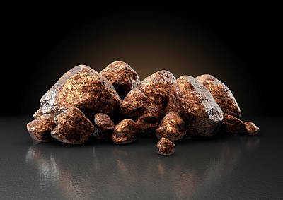 Copper Nugget Collection Poster by Allan Swart