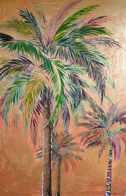 Copper Trio Of Palms Poster