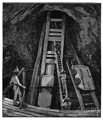 Cornish Tin Mining, 19th Century Poster by Spl