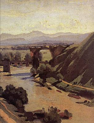 Corot The Augustan Bridge At Narni  Poster