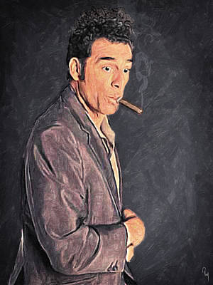 Cosmo Kramer Poster by Taylan Apukovska