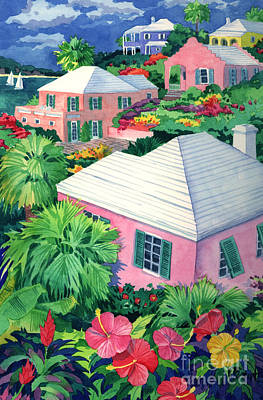 Cottage Terrace Poster by Paul Brent