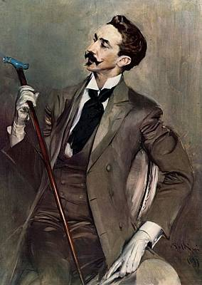 Count Robert De Montesquiou Poster by Giovanni Boldini