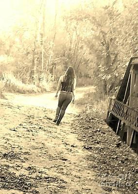Country Girl Walking  Poster by Scott D Van Osdol