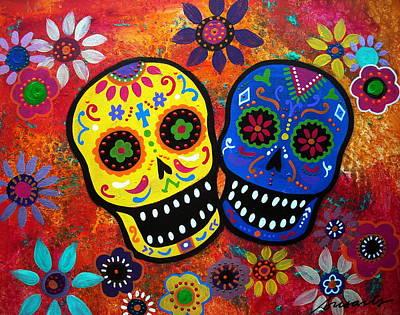 Couple Dia De Los Muertos Poster by Pristine Cartera Turkus