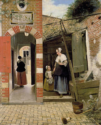 Courtyard Of A House In Delft Poster