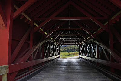 Inside A Covered Bridge Poster