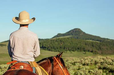 Cowboy Back Poster