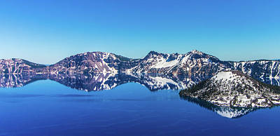 Poster featuring the photograph Crater Lake by Jonny D