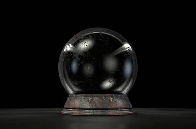 Crystal Ball Dark Poster by Allan Swart