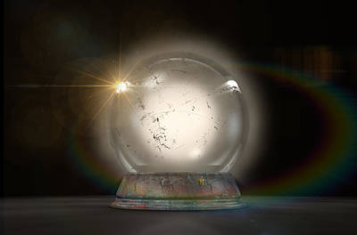 Crystal Ball Glowing Poster by Allan Swart