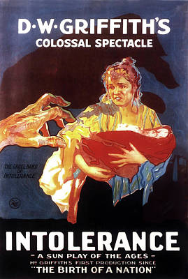 D W Griffith's Intolerance 1916 Poster by Mountain Dreams
