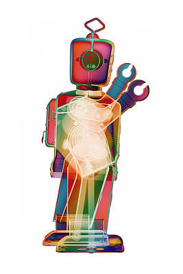 D4x X-ray Robot Art Photograph Poster
