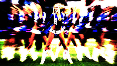 Dallas Cowboys Cheerleaders Poster by Brian Reaves