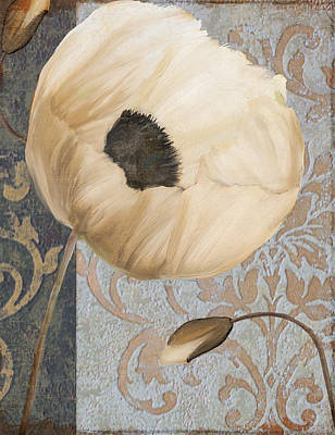 Damask Poppy Poster by Mindy Sommers