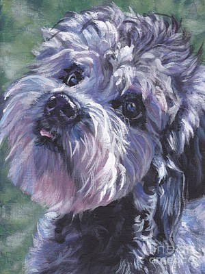 Poster featuring the painting Dandie Dinmont Terrier by Lee Ann Shepard
