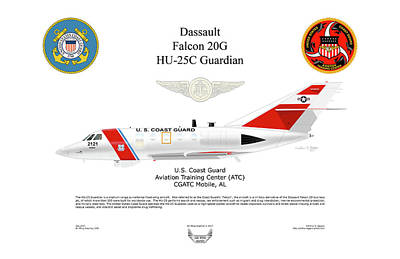 Dassault Falcon 20g Hu-25c Poster