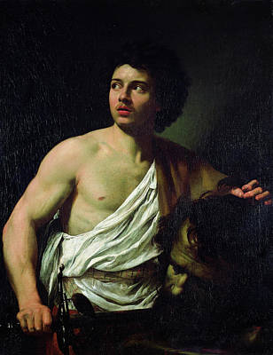 David With The Head Of Goliath Poster by Simon Vouet