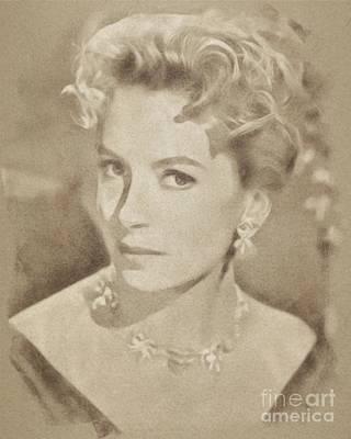 Deborah Kerr, Vintage Actress. Digital Art By John Springfield Poster