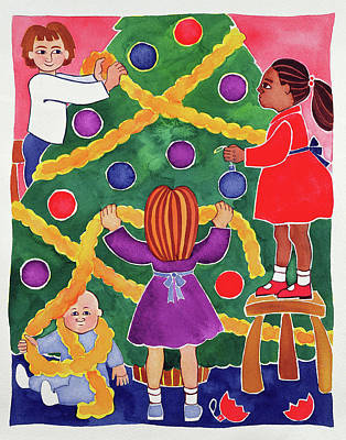 Decorating The Christmas Tree Poster