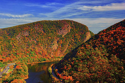 Delaware Water Gap In The Fall Poster by Raymond Salani III