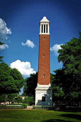 Denny Chimes - University Of Alabama Poster by Mountain Dreams